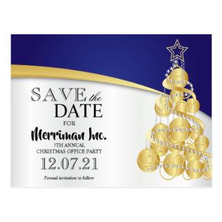 Feiertags-Büro-Party - Save the Date Postkarte