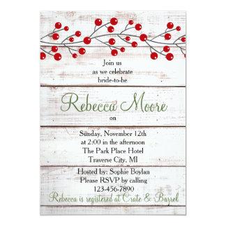Feiertags-Charme-Winter-Brautparty-Einladung Karte
