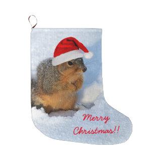 Feiertags-Eichhörnchen Großer Weihnachtsstrumpf