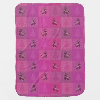 """Feiertags-Einhorn-"" Muster-Baby-Decke (Rosa) Puckdecke"