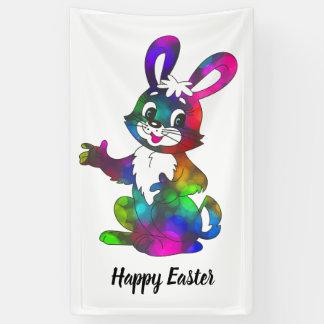 Feiertags-Fahne: Buntes Ostern-Kaninchen Banner