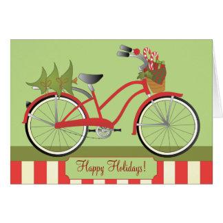 Feiertags-Fahrrad Mitteilungskarte