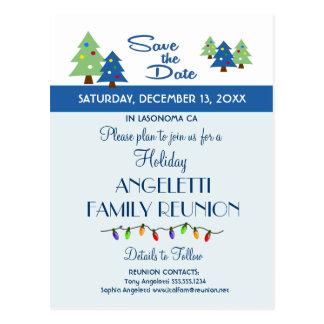 Feiertags-Familien-Wiedersehen, Party, Ereignis Postkarte
