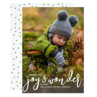Feiertags-Foto-Weihnachtsfreude u. -wunder 12,7 X 17,8 Cm Einladungskarte