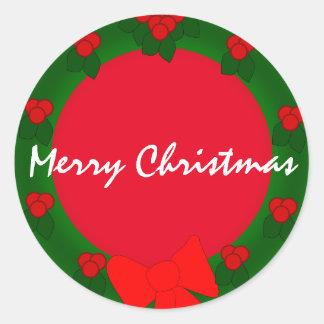 Feiertags-frohe Weihnachten Runder Aufkleber
