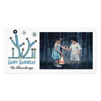 """Feiertags-glückliche Chanukka-Karte """"Menorah Bling Karte"""