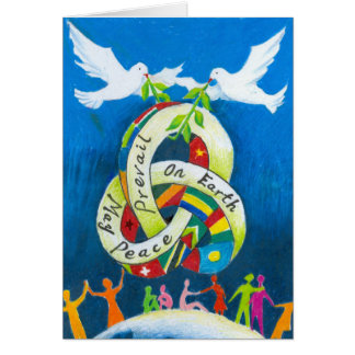 Feiertags-Gruß-Karte durch jungen Künstler Karte