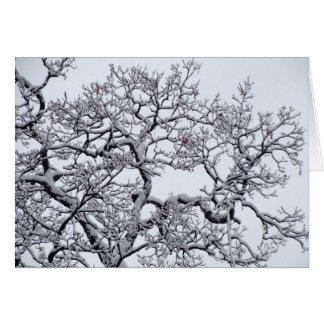 Feiertags-Gruß-Winter-Szene Grußkarte
