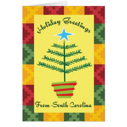Feiertags-Grüße von South Carolina Grußkarte