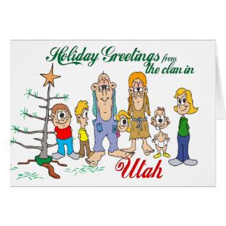 Feiertags-Grüße von Utah Karte