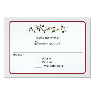 Feiertags-Hochzeit UAWG Antwort-oder Wartekarte 8,9 X 12,7 Cm Einladungskarte