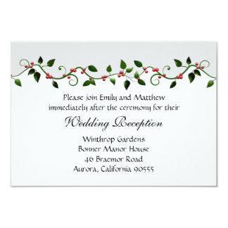 Feiertags-Hochzeits-Empfangs-Richtungs-Einladung Karte
