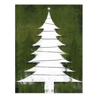 Feiertags-Ikone - strukturierter Weihnachtsbaum Postkarte