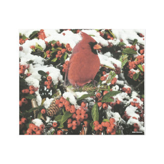 Feiertags-Kardinals-Collage ausgedehnte Leinwanddruck