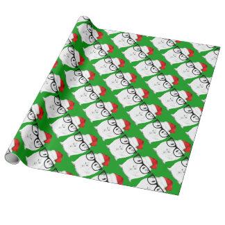 Feiertags-Meerschweinchen Geschenkpapierrolle