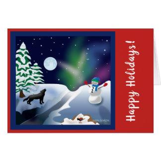 Feiertags- oder Weihnachtskarte Karte