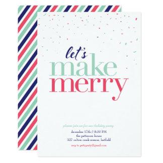 Feiertags-Party Einladung *Let wir machen Merry*
