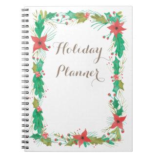 Feiertags-Planer-Notizbuch Spiral Notizblock