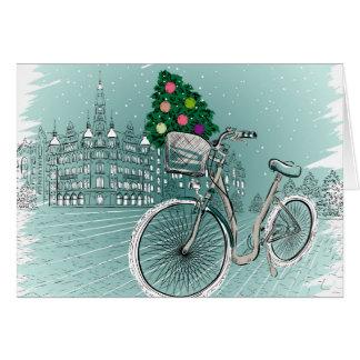 Feiertags-Postkarte mit Feiertags-Baum Karte