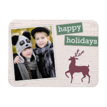 Feiertags-Ren-kundenspezifischer Foto Flexi Magnet