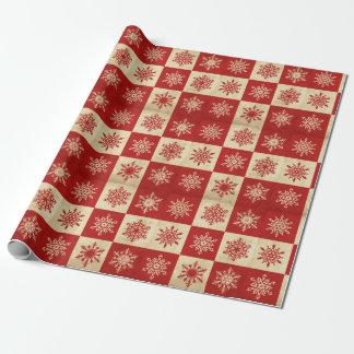 Feiertags-Schneeflocke-Packpapier Geschenkpapier