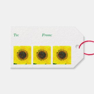 Feiertags-Sonnenblume Geschenkanhänger