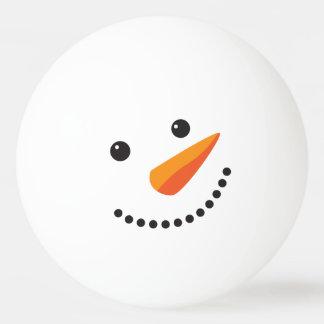 Feiertags-stellen eisiges Schneemann-Klingeln Pong Tischtennis Ball