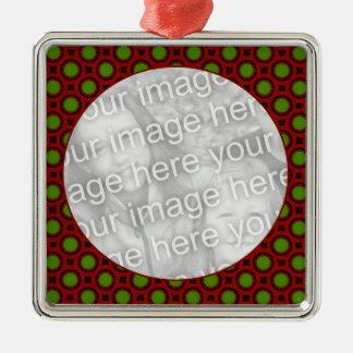 Feiertags-Tupfen Silbernes Ornament