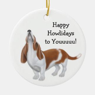 Feiertags-Verzierung HeulensBasset Hound Keramik Ornament