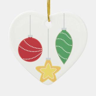 Feiertags-Verzierungen Keramik Herz-Ornament