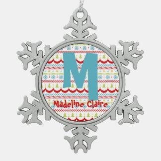 Feiertags-Verzierungs-schlichter Art-Entwurf Schneeflocken Zinn-Ornament