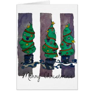 Feiertagsbäume Karte