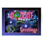 Feiertagsgrüße - Gitarre und Tastatur Grußkarte