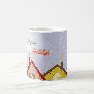 Feiertagshäuser Kaffeetasse