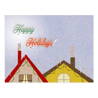 Feiertagshäuser Postkarte