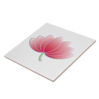 Feine coole Blumen-niedliches Girly Retro Blumen Große Quadratische Fliese