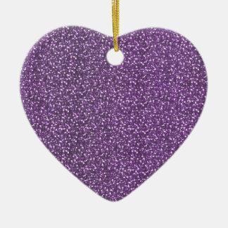 Feine Imitat-Glitzer-glänzende Glitzern-lila Keramik Ornament
