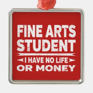 Feine Kunst-Uni-Student kein Schlaf kein Silbernes Ornament