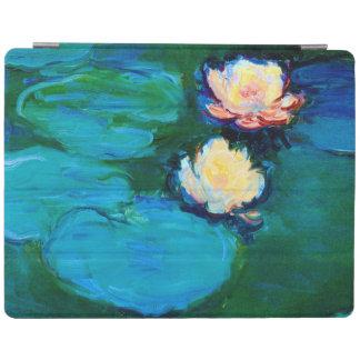 Feine Kunst zwei Wasser-Lilien-Blumen-Claudes iPad Hülle
