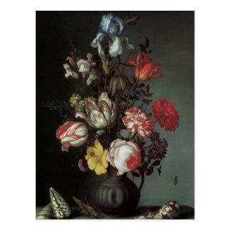 Feine mit Blumenkunst mit Postkarte