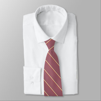 Feine Streifen auf Burgunder-Rot Bedruckte Krawatte