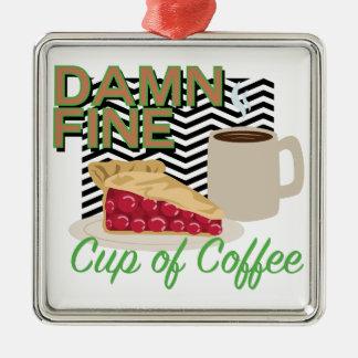 Feiner Kaffee u. Torte Silbernes Ornament