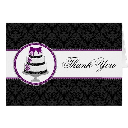 Feinschmeckerischer Kuchen danken Ihnen Karten