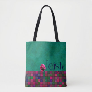 FEISTY - aquamarin, lila, Rosa - Handtasche