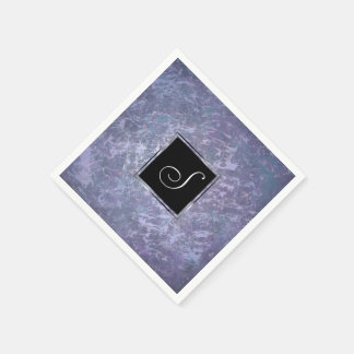 Feisty Monogramm-Lavendel-lila Spritzer | des Servietten