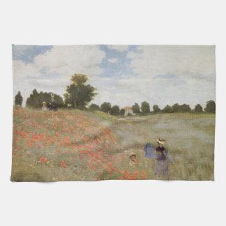 Feld der Mohnblumen Claude Monet Küchentuch