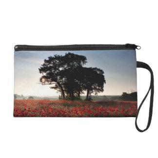 Feld der Mohnblumen Wristlet Handtasche