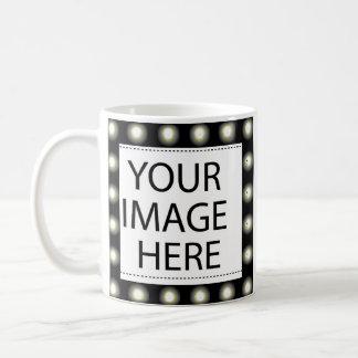 Feld-Licht-Schablone addieren Ihr Bild und/oder Kaffeetasse