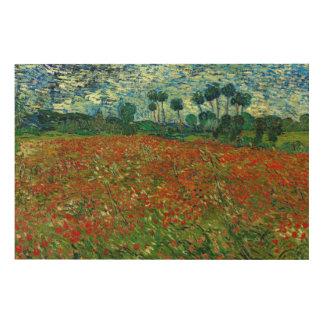 Feld mit Mohnblumen durch schöne Kunst Van Gogh XL Holzdrucke