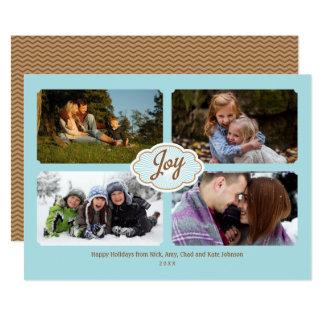 Felder des Fotos des Freude-Feiertags 4 Karte